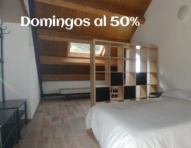 OFERTA DOMINGOS AL 50%