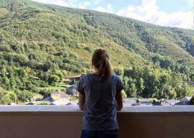 Azotea vistas alojamiento hotel rural Antigua Escuela del Bierzo