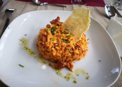 Risotto de botillo Antigua Escuela del Bierzo restaurante jornadas gastronómicas