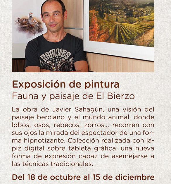 Fauna y paisaje de El Bierzo   Javier Sahagún   Exposición de pintura