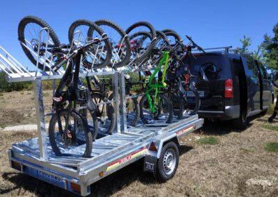 Transporte y remontes de bicicletas - Antigua Escuela del Bierzo