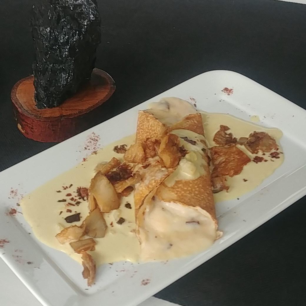 Restaurante Antigua Escuela del Bierzo Jornadas Gastronómicas Crepe de Cecina de León y setas