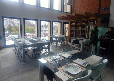 Restaurante Antigua Escuela del Bierzo Pobladura de las Regueras comedor para eventos