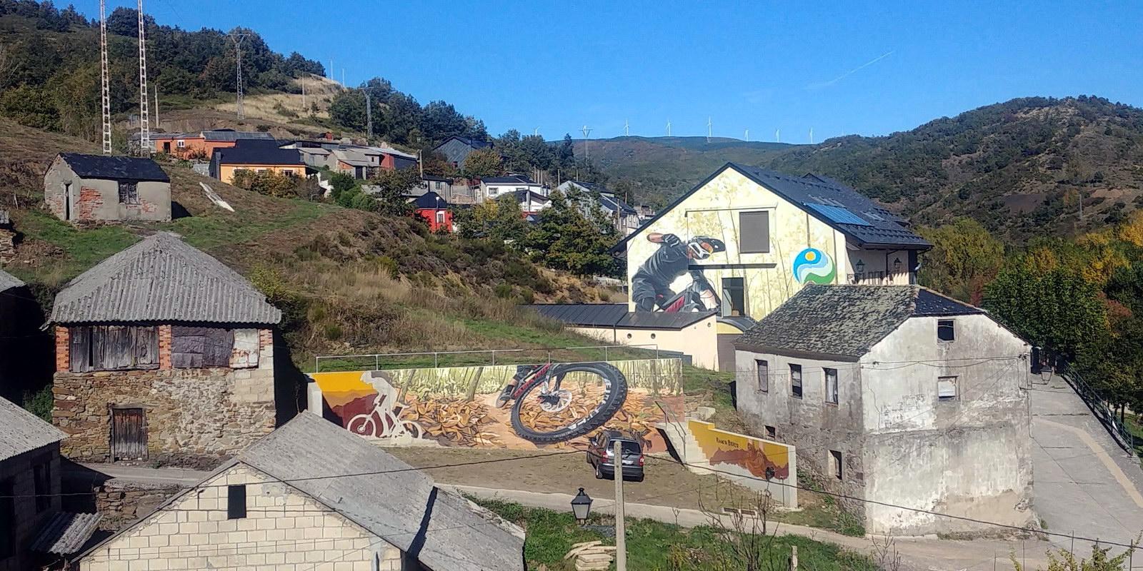 Grafiti Mountain Bike en Pobladura de las Regueras | Ruta de los Grafitis en El Bierzo