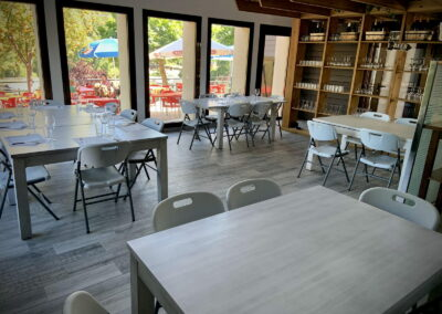 Comedor Restaurante Antigua Escuela del Bierzo vista sur a la montaña