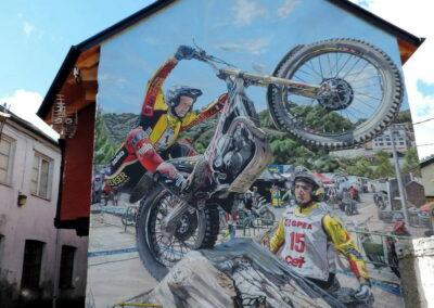 Grafiti Moto Trial en Pobladura de las Regueras | Ruta de los Grafitis en El Bierzo