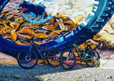 Grafiti de la Bicicleta Mountain Bike | Ruta de los Grafitis en El Bierzo | Pobladura de las Regueras