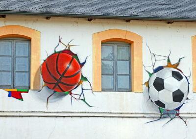 Grafiti en la Escuela de Folgoso de la Ribera   Ruta de los Grafitis en El Bierzo Alto   León