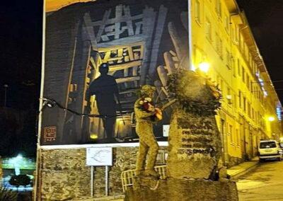 Grafiti de la Mina en Tremor de Arriba | Ruta de los Grafitis en El Bierzo Alto
