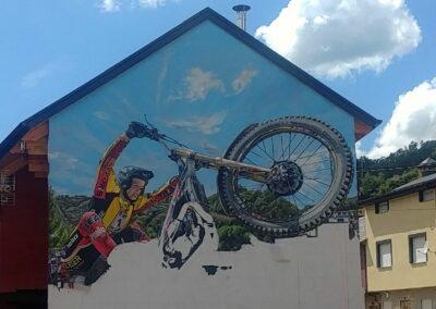 Grafiti de la Moto | Cómo se hizo | Pobladura de las Regueras León El Bierzo