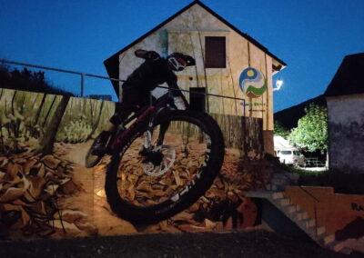 Grafiti Mountain Bike   nocturno   Pobladura de las Regueras León El Bierzo