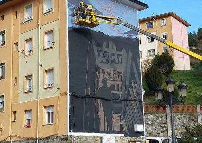 Grafiti de la Mina en Tremor de Arriba | Cómo se hizo