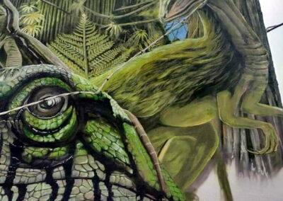 Grafiti de los dinosaurios en Tremor de Arriba | Cómo se hizo