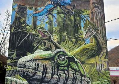 Grafiti de los dinosaurios en Tremor de Arriba El Bierzo León