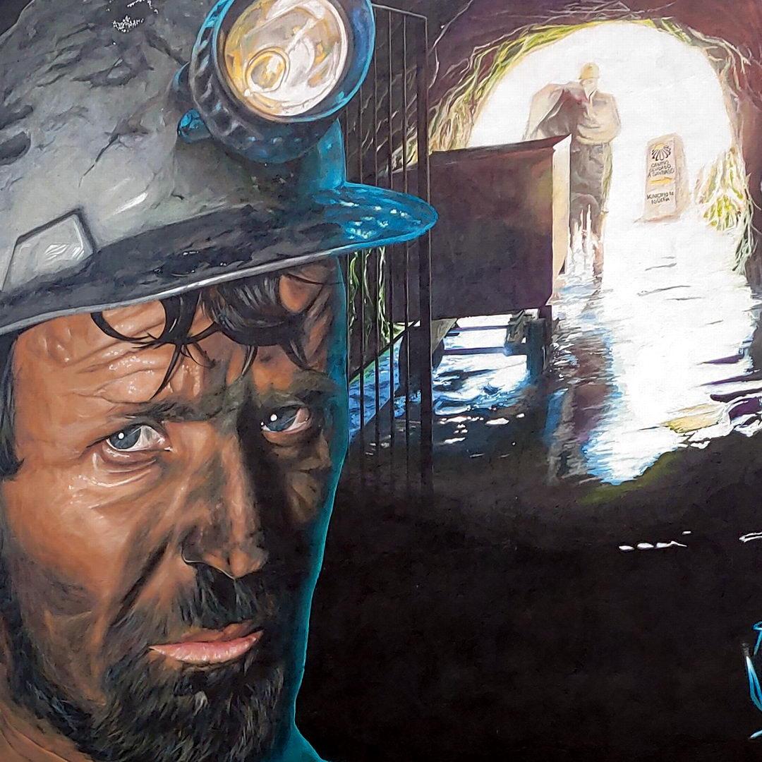 Grafiti del minero | Ruta de los grafitis en El Bierzo | Igüeña