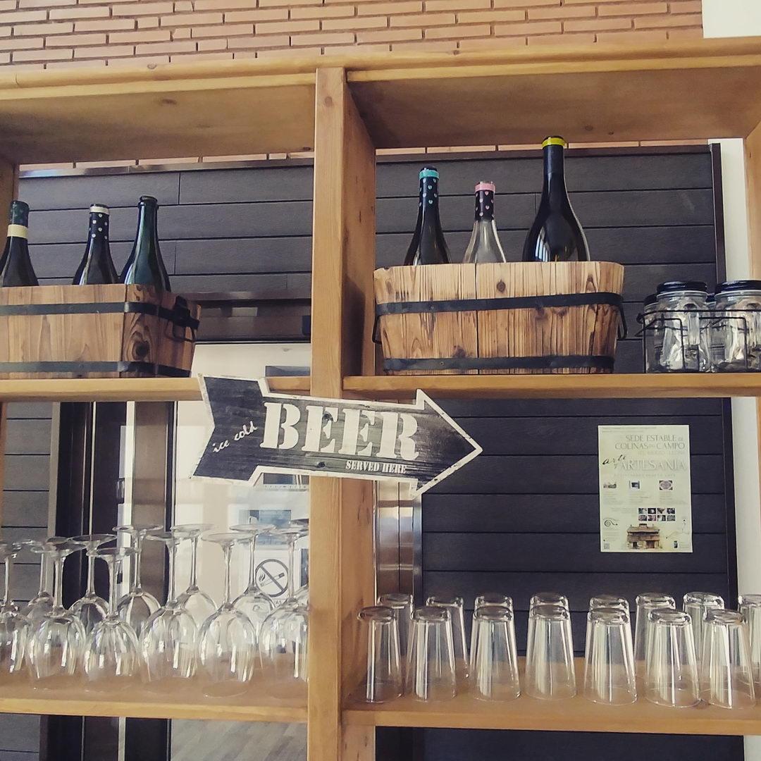 Bar terraza de verano | Antigua Escuela del Bierzo | Variedad de cervezas
